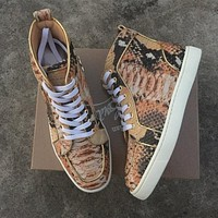 Cl Christian Louboutin Python Style #2257 Sneakers Fashion Shoes