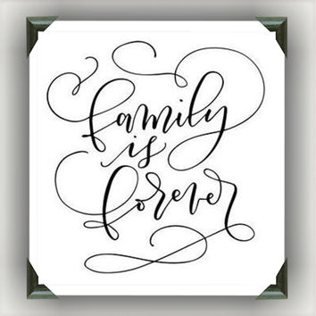 "FAMILY is FOREVER Painted/Decorated 12""x12"" Canvases - you pick colors"