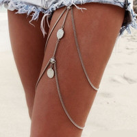 2017 Coin Link Thigh and Body Bohemian Jewelry Chain