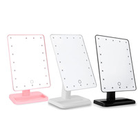 20 Lighted LED Makeup Mirror Touch Screen Luminous 180 Rotating Adjustable Vanity Table Lamp Make Up Mirrors with Light Portable