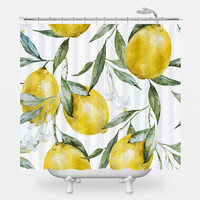 Life of Lemons Shower Curtain