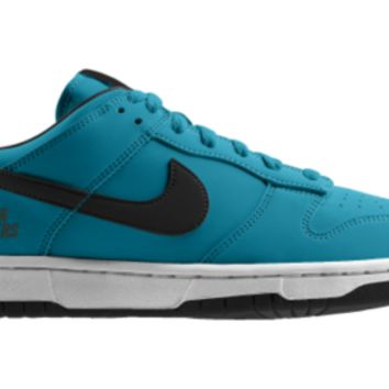Nike Dunk Low NFL Carolina Panthers iD Custom Men's Shoes - Blue