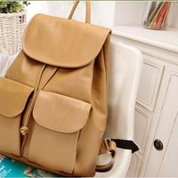 Music festival camping PU leather girl backpack - Myfriendshop