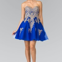 Royal blue short homecoming dress #gs2371