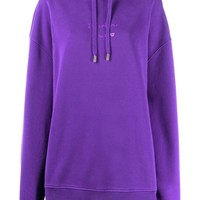 Ladies Oversized Purple Logo Stencil Hoodie by Acne Studios