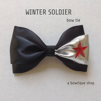 winter soldier clip on bow tie