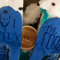 State Mitts -I Pity the Fool - Mr. T - Whimsically Fun Mittens - Stick 'em up and make a Statement, Keep your fingers