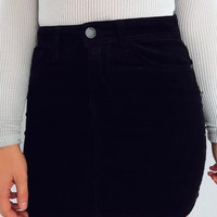 I'll Be Here Skirt: Black