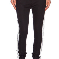 Zoe Karssen Slim Fit Sweatpants in Black & White