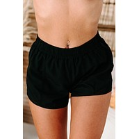 Push Yourself Side Mesh Active Shorts (Black)