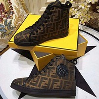 FENDI High Gang Fashion casual shoes