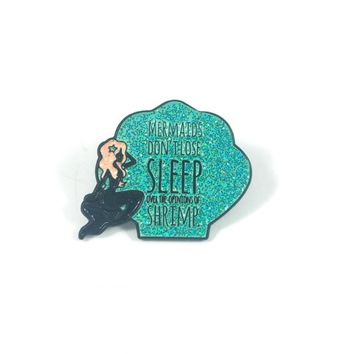 Lapel Pins - Quirky Mermaid Lapel Pin in Aqua