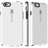 SPECK 73427-B860 iPhone(R) 6 Plus/6s Plus CandyShell(R) Case (White/Charcoal Gray)