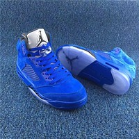 Air Jordan 5 Retro Blue Suede Game Royal Size 35-47