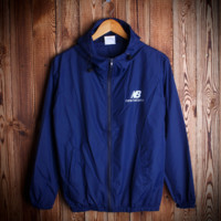 Fashion Unisex Lover's The North Face Sports Coat Windbreaker  NB Blue Front