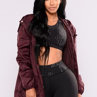 Stronger Active Jacket - Burgundy