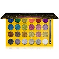 RSVParty Glitter Palette - 24 Pressed Glitter Pigments for Face and Body