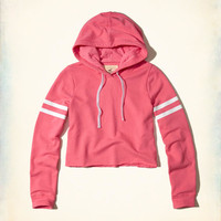 Girls Stripe Cropped Hoodie | Girls New Arrivals | HollisterCo.com