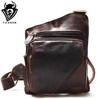 Backpack Leather Chest Bag - Messenger Bag - Shoulder Bags