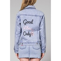 Good Vibrations Denim Jacket