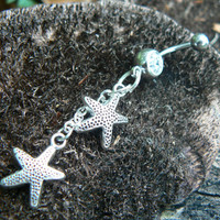 double starfish belly ring starfish in beach summer boho gypsy hippie belly dancer and hipster style