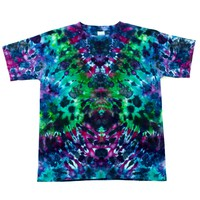 Psychedelic Dreamland Ice Dyed Youth Large T-Shirt