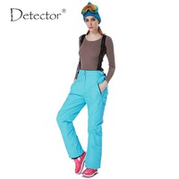 Detector -35 degree snow pants plus size elastic waist lady trousers winter skating pants skiing outdoor ski pants for women
