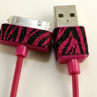 Hot pink iphone, ipad or ipod charger