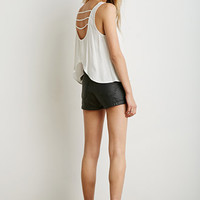 Ladder-Back Crepe Tank