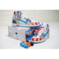 Parra X Off-white X Air Jordan 1 Custom Aa3834-108