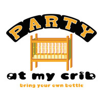 Party At My Crib Baby Shirt Funny Infant Design Little Boys One Piece Baby Girls Funny Shirt Creeper Jumpsuit 0 6 12 18 24 Month 2T 3T 4T