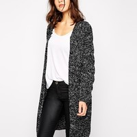 Y.A.S Maggie Long Cardigan with Cable Panel at asos.com