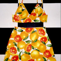 SWEET LORD O'MIGHTY! CITRUS BRALET IN WHITE