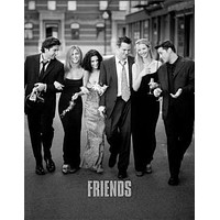 """Friends Poster Black and White Poster 24""""x36"""""""