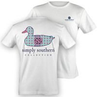 Simply Southern Duck Tee - White