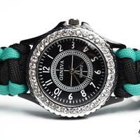 Womens Black Paracord Watch