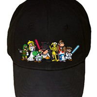 'Plumbing Wars Group' All Characters Funny Video Game & Space Movie Parody - 100% Cotton Adjustable Hat