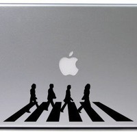 The Beatles Abbey Road Macbook Decal BLACK by VinylCulture on Etsy
