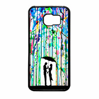 Love Song Romantic In The Rain Paint Samsung Galaxy S6 Case