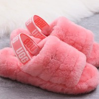 UGG 2019 New Women's Fashion Fluff Yeah Slipper Slide 1095119