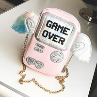 Cute Gamer Purse with Wings