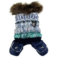 Thick Warm Jacket Winter Dog Clothes Pet Coat Clothing Hooded Jumpsuit Warm Clothes For Dogs