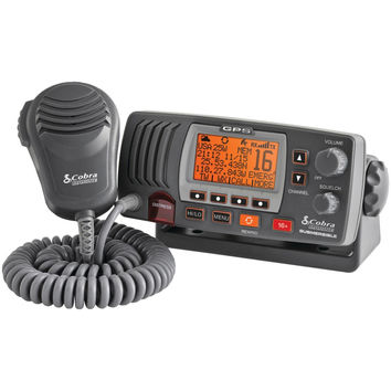 Cobraselect Marine Fixed Mount Vhf Radio With Built-in Gps Receiver (black)