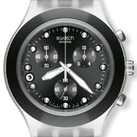 Swatch Men's SVCK4035G Stainless Steel Analog Watch with Black Dial Watch