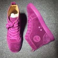 DCCK2 Cl Christian Louboutin Suede Style #2222 Sneakers Fashion Shoes