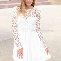 SPLENDED ANGEL 2.0 DRESS , DRESSES, TOPS, BOTTOMS, JACKETS & JUMPERS, ACCESSORIES, 50% OFF SALE, PRE ORDER, NEW ARRIVALS, PLAYSUIT, COLOUR, GIFT VOUCHER,,White,Print,LACE,LONG SLEEVES,MINI Australia, Queensland, Brisbane