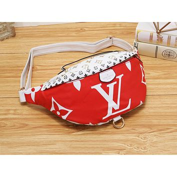 LV fashion matching color printing diagonal cross chest bag hot selling casual lady Fanny pack #3