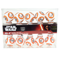 B8 Star Wars Plastic Christmas Ornaments Light Set, 10 LED, Warm Yellow