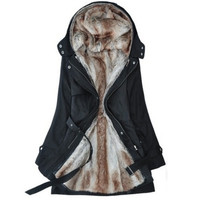 Fur Buckle Down Jacket