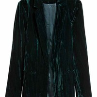 Crushed velvet jacket - Petrol - Ladies | H&M GB